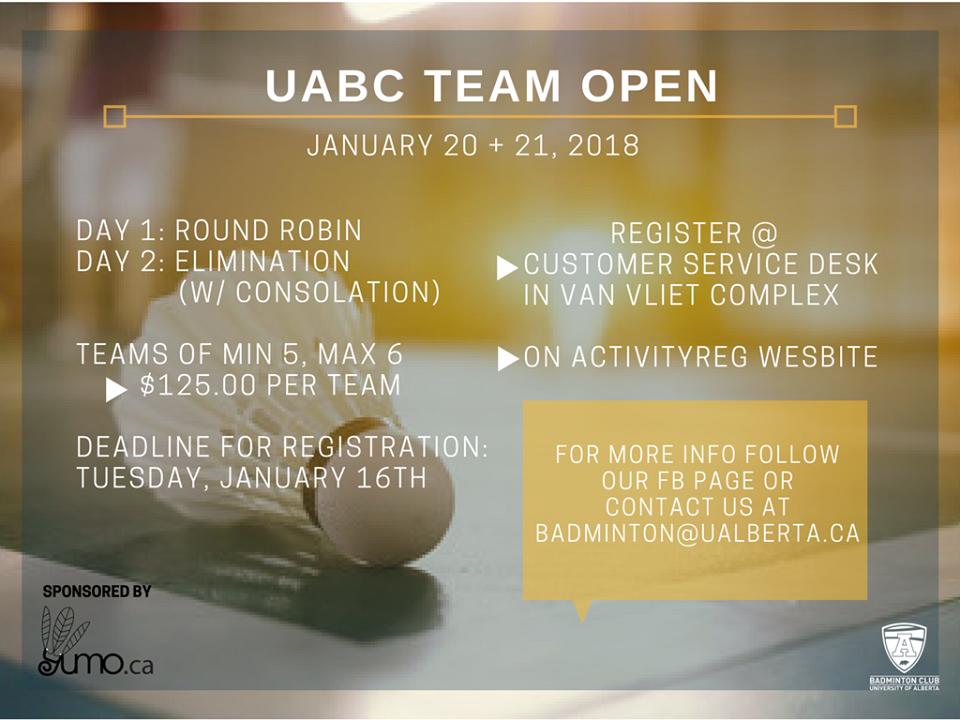 UABC - Team Tourney Poster